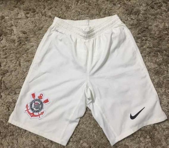 Bermuda Corinthians Nike Branca Dry-fit