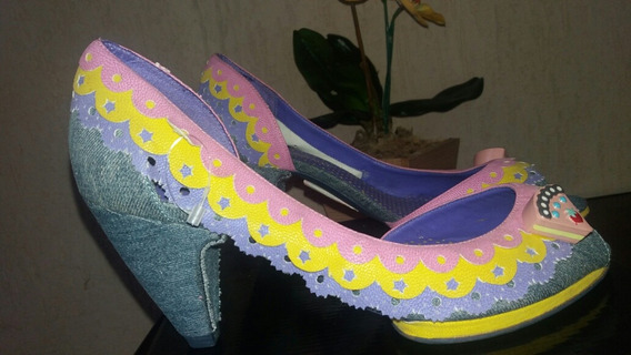Sapatilha Jeans Di Cristalli 35 Com Saltinho