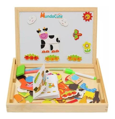 Imagen 1 de 7 de Caja Didáctica Multifuncional Tablero Niños Juguetes