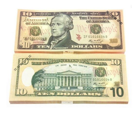 Notas De Dólar De Folha De Ouro Americano Falso Dinheiro Art