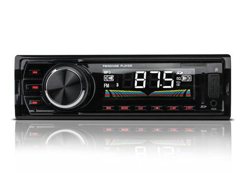 Imagen 1 de 4 de Autoestereo Mp3 Usb Sd Aux Radio Fm Digital Lcd 7w Control