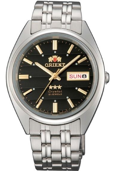 Reloj Orient Automático Plateado Negro Fab0000db9 De Hombre