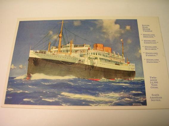 Antigua Postal Royal Mail Transatlantico Barco Vessels