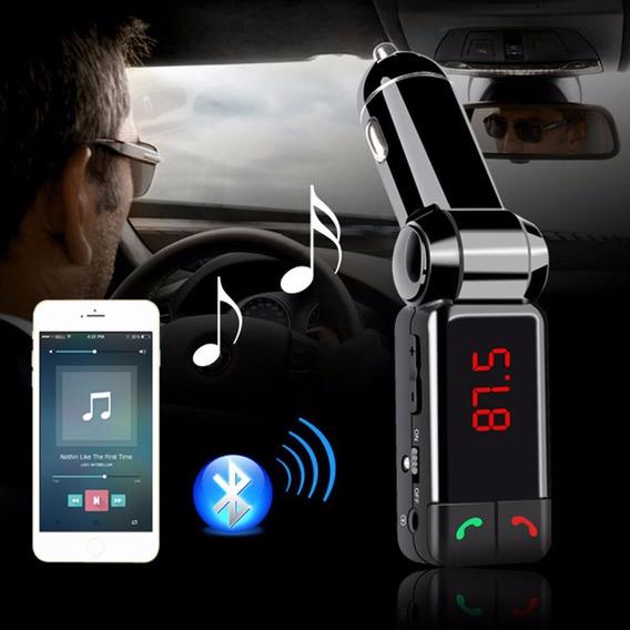 Transmissor Fm Veicular Bluetooth Usb (faz E Recebe Chamada)