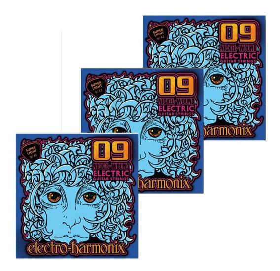 Encordoamento Kit 03 Electro Harmonix 09/42 C/ Nf-e