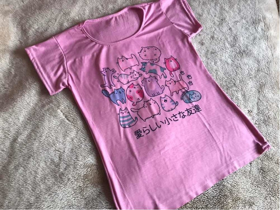 Remera Gatitos Kawaii By R.c Store