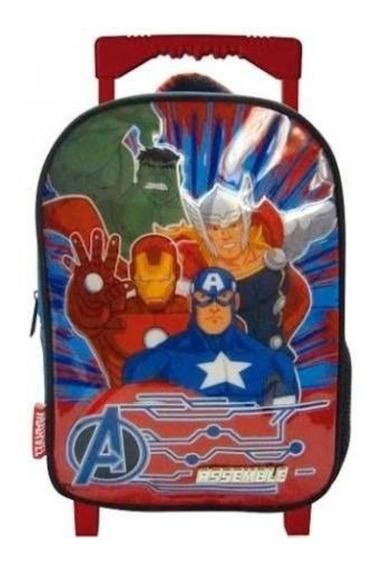 Mochila Escolar Con Carrito Avengers Sp595