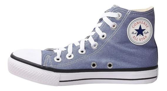 Tênis Converse All Star Bota Azul Jeans Do Momento Infantil