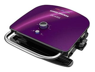 Parrilla Y Asador 7 En 1 George Foreman Color Purpura