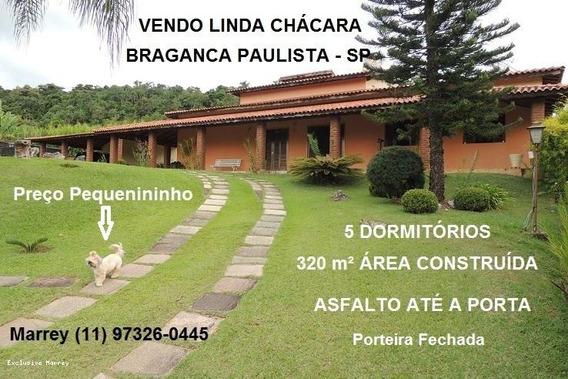 Chácara Venda Bragança Paulista, 5 Dormitórios, Porteira Fechada, 320 M² Ac Térrea, 5 Dormitórios, 2 Suítes, 4 Banheiros, 7 Vagas - 3039