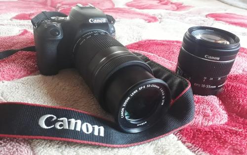 Câmera Canon Sl2 + 18-55mm + 55-250mm + Acessórios.