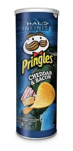 Imagem 1 de 2 de Batata Pringles Sabor Cheddar E Bacon 113g