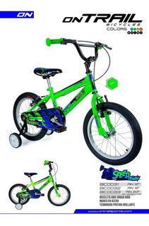 Bicicleta Para Niños Ontrail Speed Demond Rin 16 Envio Grati