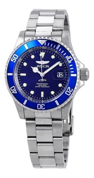 Relógio Invicta 26971 Pro Diver Quartz Prata E Azul Original