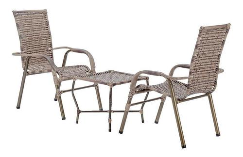 2 Cadeiras E Mesa De Centro, Área, Varanda,piscina,pergolado