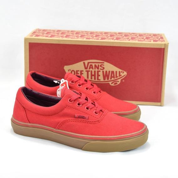 Vans Tenis Era Racing Red Gum Lona 100% Originales