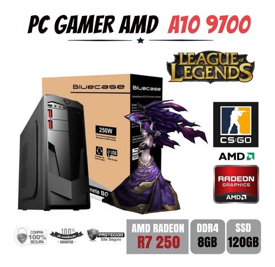 Pc Gamer Amd A10 9700 8gb Ddr4 R7 250 Apu Ssd120gb