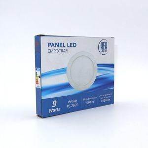 Lampara Panel Led Empotrar 3w Y 6w Redondo Y Cuadrado Pack 3