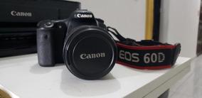 Câmera Canon 60d Com Lente 18 - 135 Mm Usada