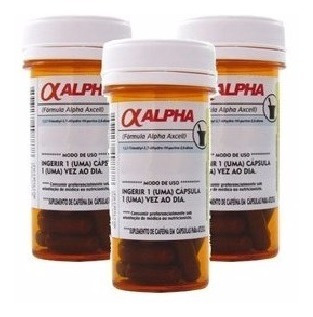 Combo Alpha 3 X Axcell 30 Caps 210mg Cafeína Power Supplemen