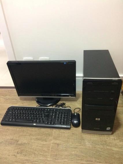 Computador Hp + Monitor 19¿¿ Samsung Intel Core 2 Duo 500gb