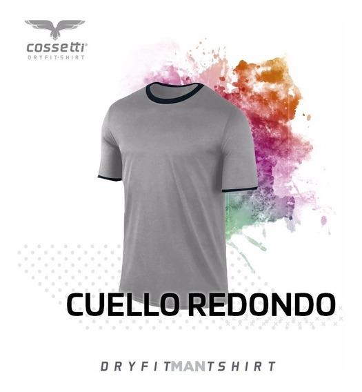 Playera Cuello Redondo Cossetti Manga Corta Dry Fit Combina