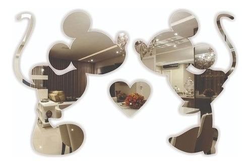 Imagem 1 de 3 de Decoração Para Quarto Infantil Mickey Minnie Espelhado