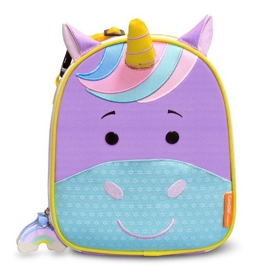 Lancheira Infantil Animais Let S Go Unicorn Violet Comtac