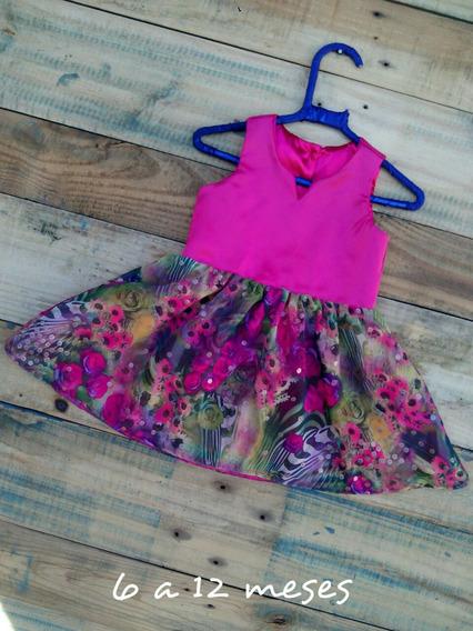 Vestido Infantil Roupa De Menina Rosa De Saia Florarida