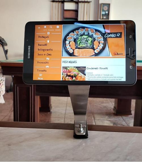 Suporte Tablet Cardápio Restaurante P/ Mesa C/ Antifurto