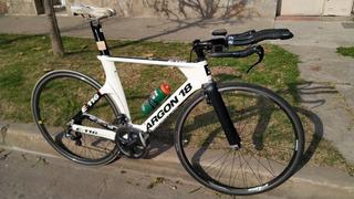Bicicleta Triatlón Tria Crono Argon Carbono Shimano Ultegra