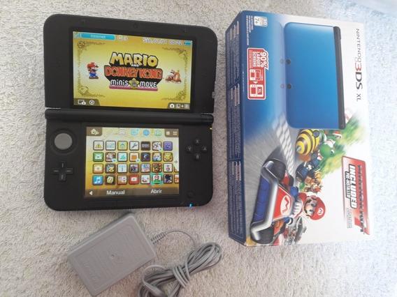 Nintendo 3ds Xl + Caixa + Cartao 16gb