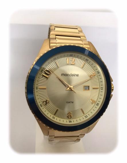Relógio Mondaine Dourado Unissex 94979gpmvda2
