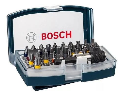 Imagen 1 de 9 de Juego Set Kit Puntas Destornillador Bosch 32 Piezas Con Clip