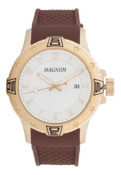 Relógio Magnum Dourado Marrom Masculino Ma34414m
