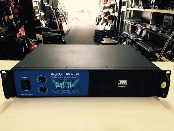 Potencia Machine A600 Wvox 200w Rms - Loja Jarbas Instrum.