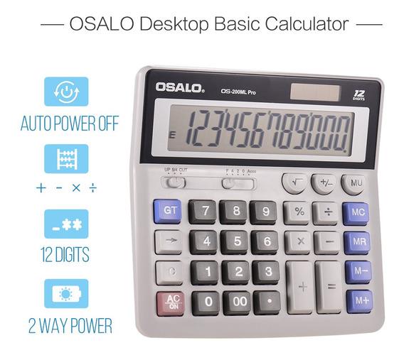 Osalo Os-200ml Pro Calculadora De Mesa Calculadora Básica De