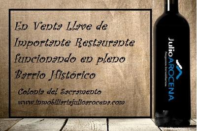 Venta De Llave De Restaurante Funcionando En Barrio Historic