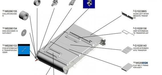 M026-6124 Belt Transferencia Ricoh Mp C300 C400 Semi-nova