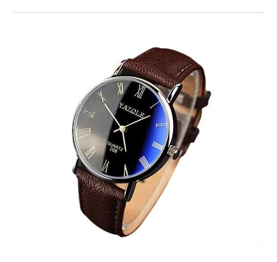 Kit 4 Relógio Luxo Masculino Pulso Social Pulseira Preta