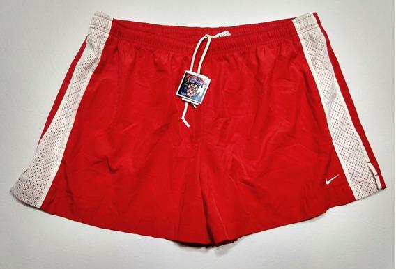 Short Nike Running Rojo Y Blanco Talle Xl 16/18
