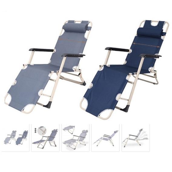Cadeira Espreguicadeira Reclinável Para Casa Varanda Preta