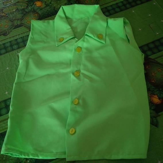Disfraz Camisa Color Verde Manzana Talla 6