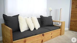 Recamara Sofa Cama Con Librero De Madera Moderno Y Rustico