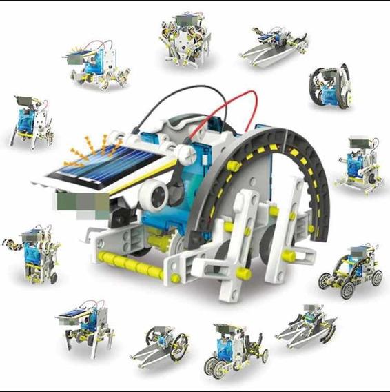 Robô Solar Educacional Fácil Montagem 13 Em 1 (sem Caixa)