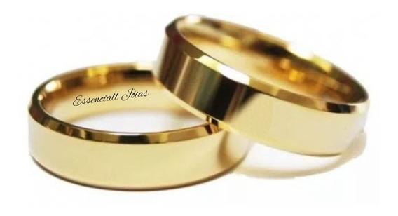 Par Alianças Ouro 18 K 5 Mm 5 Gramas Casamento.