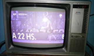 Tv Sharp 20 Linytron (solo Blanco Y Negro) + Mesa De Regalo