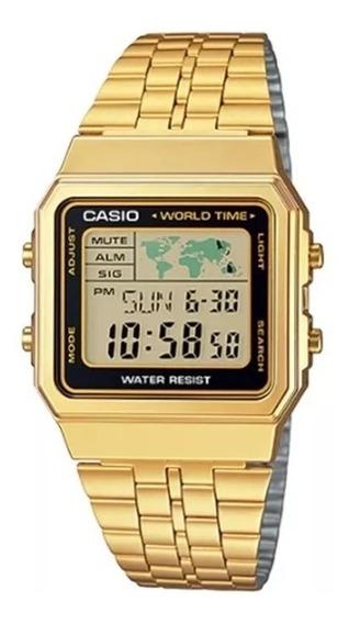 Relógio Feminino Casio Vintage Dourado A500wga-1df Original