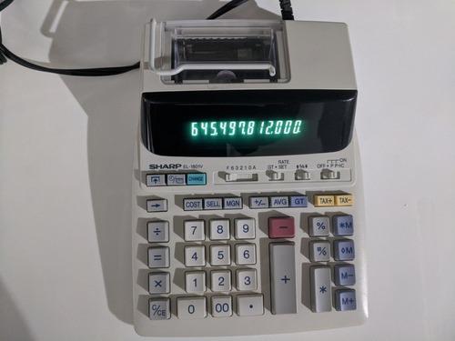 Calculadora, Sumadora Electrica De 12 Dígitos Sharp