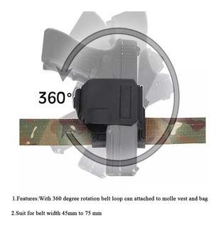 Funda Táctica Derecha Giratorio 360 Clip Glock 17 19 25 28